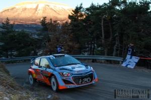 Monte Carlon shakedown oli ensimmäinen kerta, kun Hyundai i20 WRC:n menosta otettiin aikaa muita vastaan.