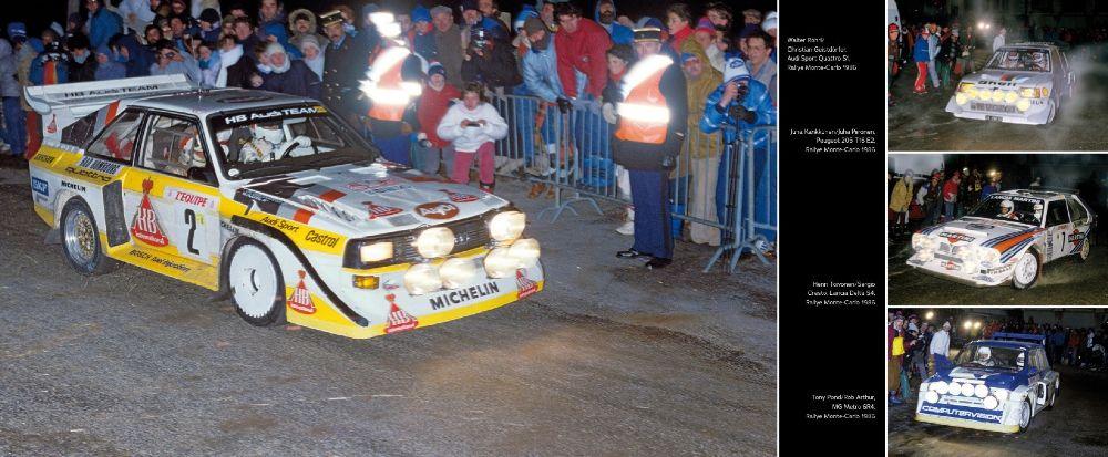 Aukeamalla Monte Carlosta 1986 kuva Henri Toivosesta on ainoa kuva, mikä suomalaisesta rallilegendasta kirjassa on.