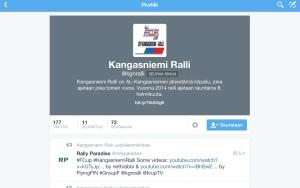 @kgnralli'n sivu Twitterissä.