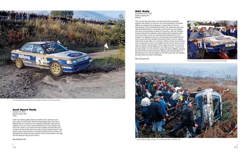 Vuonna 1991 Colin McRaen Subaru Legacy päätyi ojanpohjalle RAC-rallin johtopaikalta.